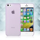 0.3mm Ultra Thin Matte Frosted Clear Soft TPU Back Case Cover Fr Apple iPhone 5C(COLOR PURPLE