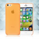 0.3mm Ultra Thin Matte Frosted Clear Soft TPU Back Case Cover Fr Apple iPhone 5C(COLOR ORANGE