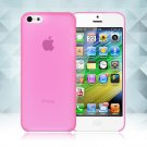 0.3mm Ultra Thin Matte Frosted Clear Soft TPU Back Case Cover Fr Apple iPhone 5C(COLOR ROSE