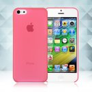 0.3mm Ultra Thin Matte Frosted Clear Soft TPU Back Case Cover Fr Apple iPhone 5C(COLOR RED