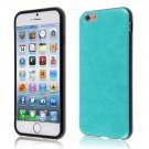"PU Leather + TPU Four Sides Protector Cover Case Skin for iPhone6 4.7""( COLOR TURQUOISE"