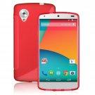 S-Line Wave Shape Soft TPU Gel Back Protect Case Cover Skin Fr LG Google Nexus 5 ( COLOR RED