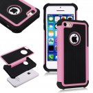 Apple iPhone 5C Colorful Heavy Duty Hybrid Rugged Hard/Soft Matte Cover Case(COLOR  PINK