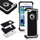 Apple iPhone 5C Colorful Heavy Duty Hybrid Rugged Hard/Soft Matte Cover Case(COLOR  WHITE