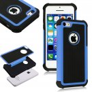 Apple iPhone 5C Colorful Heavy Duty Hybrid Rugged Hard/Soft Matte Cover Case(COLOR  BLUE