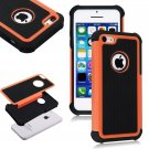 Apple iPhone 5C Colorful Heavy Duty Hybrid Rugged Hard/Soft Matte Cover Case(COLOR  ORANGE
