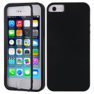 TPU Wrap Up Flip Case Cover w/ Built in TOUCH Screen Protector for iPhone 5 5S( COLOR BLACK