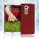 Snap on Hard PC Back Case Cover Skin Protective For LG G2(COLOR  RED