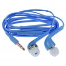 3.5mm Stereo In-ear Headphone Earphone Headset w/ Volume Control Mic for Samsung( COLOR BLUE