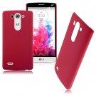 Snap-on Hard Matte Plastic Back Case Cover Skin For LG G3 Mini D725 D722 (COLOR RED