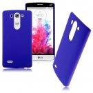 Snap-on Hard Matte Plastic Back Case Cover Skin For LG G3 Mini D725 D722 (COLOR DARK BLUE