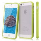 TPU Bumper Frame Matte Frosted Clear Back Cover Hard PC Case for iPhone ( COLOR  YELLOW /GREEN