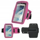 Sport Running Armband Holder Case Cover For Samsung Galaxy Note II 2 N7100 (COLOR ROSE