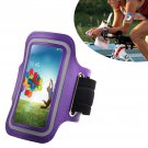 Armband Case Cover Holder Fr Samsung Galaxy S4 Mini i9190 (COLOR PURPLE
