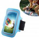 Armband Case Cover Holder Fr Samsung Galaxy S4 Mini i9190 (COLOR LIGHT BLUE