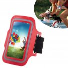 Armband Case Cover Holder Fr Samsung Galaxy S4 Mini i9190 (COLOR RED