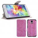 Magnetic Flip PU Leather Case Stand Cover Skin Pouch for Samsung Galaxy S5 G900 (COLOR PINK