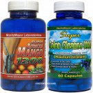 SUPER AFRICAN MANGO 1200 & COLON CLEANSE  1800 MAXIMUM STRENGTH WEIGHT LOSS