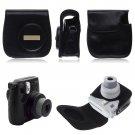 PU LEATHER CAMERA CASE COVER SHOULDER BAG For Fuji Fujifilm Instax Mini8(color black