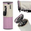 Travel Portable Baby Kid Feeding Milk Bottle Holder Warmer Cooler Bag Carrier(pink