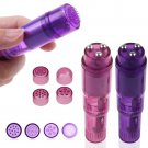 Powerful Mini Mite Vibrating Pocket Personal Massager Back Full Body w/ 4 Heads(purple