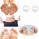 2PCS Keep Fit Health Slimming Slim Body Shaper Weight Loss Silicone Toe Ring