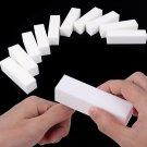 White 10Pcs Buffing Sanding Buffer Block Files Acrylic Manicure Nail Art Tips