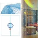 Beaded String Curtain Door Divider Crystal Beads Tassel Screen Panel Home Decor(color  blue