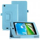 Folio PU Leather Case Cover Stand for Acer Iconia One 7 B1-730HD Tablet( color light blue