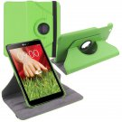 """360 Rotating Folio Leather Case Cover Stand for LG G Pad Gpad 8.3"""" V500 Tablet( color green"""