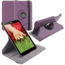 "360 Rotating Folio Leather Case Cover Stand for LG G Pad Gpad 8.3"" V500 Tablet( color  purple"