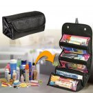 Portable Cosmetic Organizer Roll Up Makeup Organizer Case Travel Toiletry Bag (COLOR BLACK