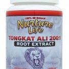 Pure Tongkat Ali 200:1 Root Extract Pasak Bumi Longjack 60 Capsules Certified