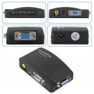 PC Laptop Composite AV/S Video To VGA TV Converter Monitor Adapter Switch Box