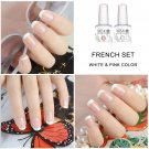 4 pCS  French UV LED Soak Off Gel Nail Polish French Tips