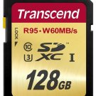 TRANSCEND SD XC SDXC 95MB/SEC 60M/WRITE 128GB UHS-I U3 ULTIMATE 128G 128 G GB