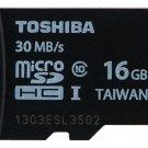 TOSHIBA MICROSDHC CLASS 10 16GB 16G 16 G GB MICRO SD HC UHS-I U1 FLASH MEMORY