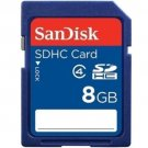 SANDISK SD HC SDHC 8GB 8G 8 G GB FLASH MEMORY CARD LIFE TIME WARRANTY NEW