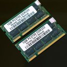2GB 2x 1GB DDR333 PC2700 333MHZ Laptop 200pin Notebook CL2.5 Low Density RAM