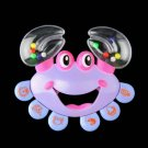 Kids Baby Crab Design Handbell Musical Instrument Jingle Shaking Rattle Toy