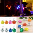 1x Pet Dog Puppy LED Flashing Collar Safety Night Light (color orange