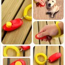 Dog Pet Click Clicker Training Obedience Agility Trainer Aid Wrist Strap (color red