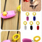Dog Pet Click Clicker Training Obedience Agility Trainer Aid Wrist Strap (color pink