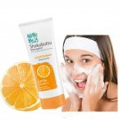 SHOKUBUTSU MONOGATARI WHITENING FACIAL FACE FOAM MOISTURIZER CLEANSER ORANGE