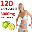 120 x 3000mg DAILY GARCINIA CAMBOGIA CAPSULES HCA 62.1% DIET ORGANIC WEIGHT LOSS