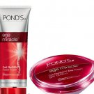 100g POND'S AGE MIRACLE DAILY FACE WASH FACIAL FOAM CELL REGEN DAY CREAM 50g SET