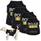 Dog Cat Vest Police Puppy T-Shirt Coat Pet Clothes Summer Apparel Costumes
