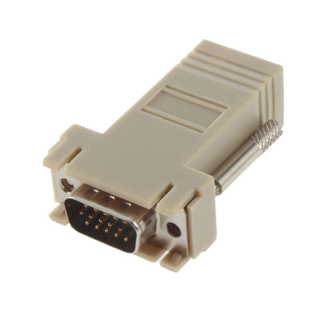 VGA Extender Male To LAN CAT5 CAT5e CAT6 RJ45 Network Cable Female Adapter