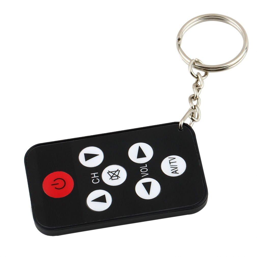 Mini Universal Infrared IR TV Set Remote Control Keychain Key Ring 7 Keys