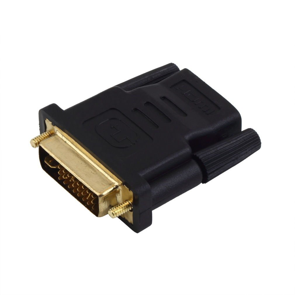 DVI Male to HDMI Female adapter Gold-Plated NEW M F Converter For HDTV LCD